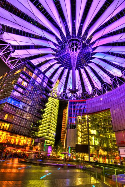 Sony Center, Berlin - my usual place for catching a movie with friends near Potsdamer Platz...