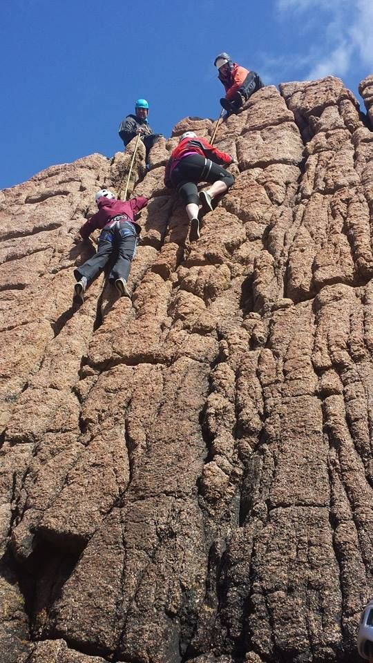 a view from the bottom, climbs take place on different rock faces and are suitable for every level of experience, from beginners to seasoned climbers, the cliffs in the Donegal Gaeltacht have something to offer everyone..