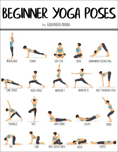 20 Yoga Poses for Complete Beginners (+ Free Printable) – Tatjana Mokamel-Salinski