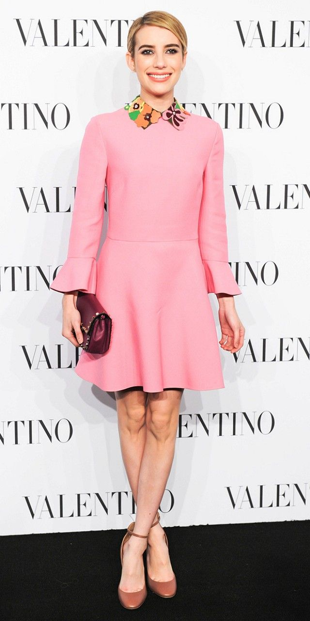 Emma Roberts is the Spitting Image of Twiggy in Valentino via @WhoWhatWear