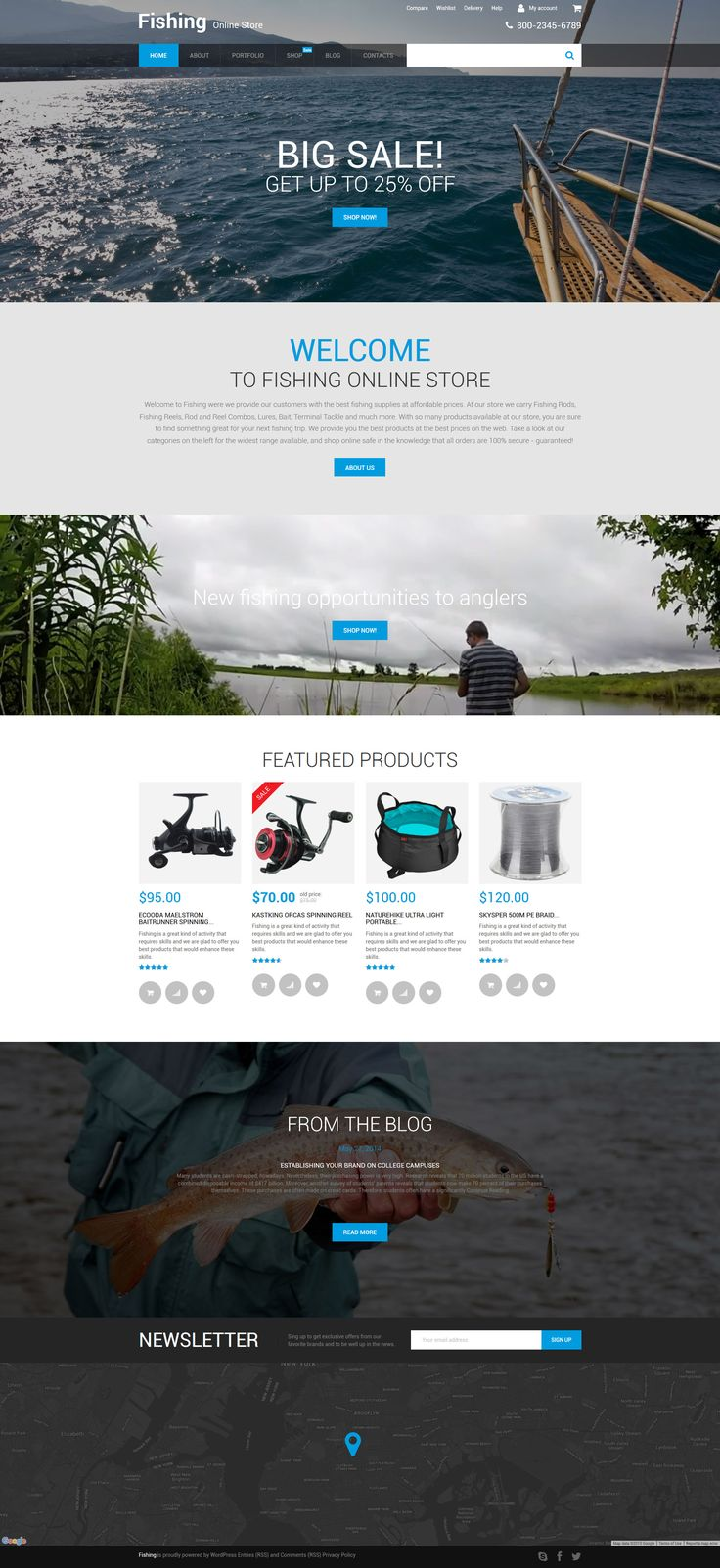 This fishing WooCommerce WordPress theme is a one-stop solution for online stores selling stuff for sports and hobbies. It includes a transparent dropdown menu with category badges, large immersive...