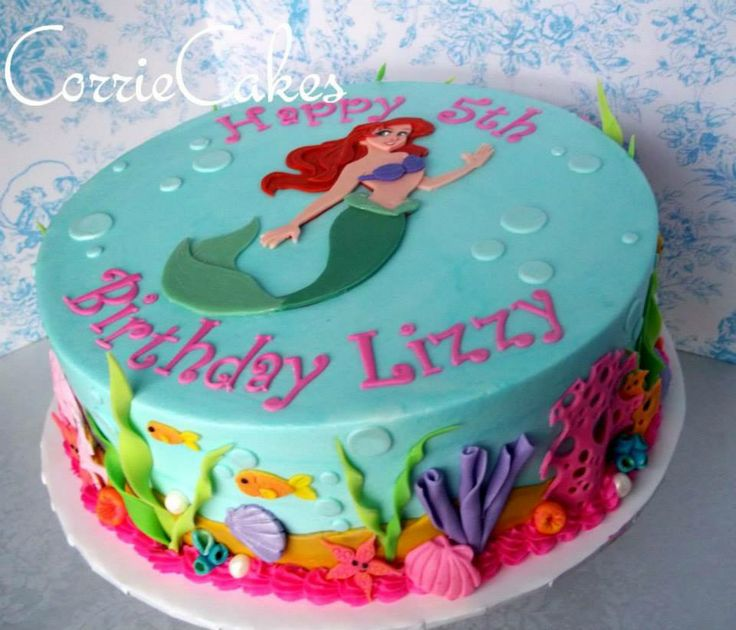 17 best images about ariel cake on pinterest little for Ariel cake decoration