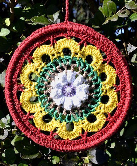 Mandala Nº1 en tejido crochet
