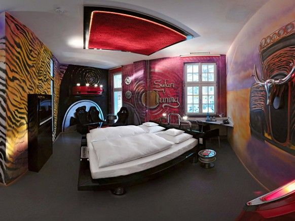 Amazing car themed rooms of v8 hotel germany