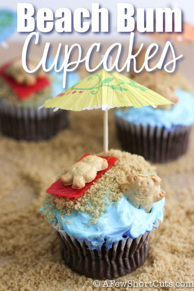 Beach Bum Cupcakes #summer #recipe