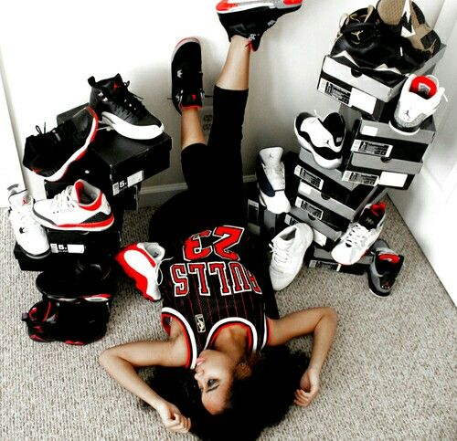 Her shoe game is sick