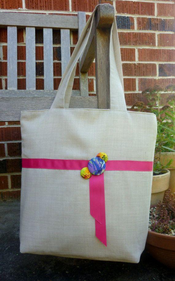 Sarita Linen Tote Bag