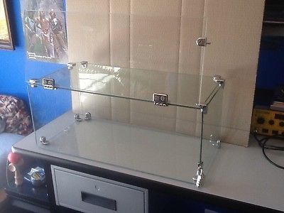 countertop glass display case with combination lock 12 x 24 x 10