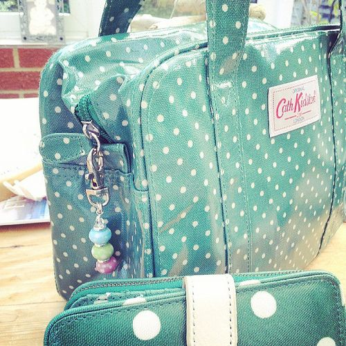 Check out my new Cath Kidston purse and bag .... complete with charm! !!