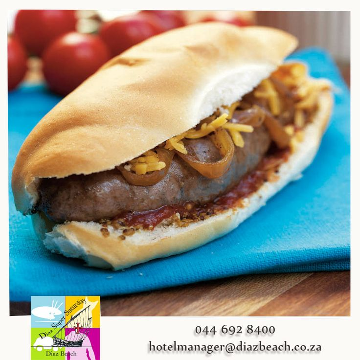 When it's weekend, the last thing you want is to be stuck inside during the day cooking and missing the beautiful weather.  Why not come and have lunch at the Diaz Super Saturday? There will be a ''boerewors'' roll stall. #boerewors #Diaz #DiazSuperSaturday