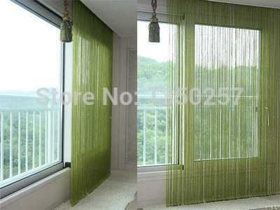 solid color decorative string curtain 300cm*300cm black white beige  classic line curtain  window blind vanlance room divider ** Check out the image by visiting the link.