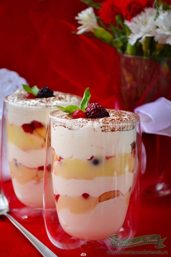 Preparare Crema de lamaie la pahar.Crema de lamaie cu fructe de padure.Desert rapid.Desert pentru diabetici.Desert cu indulcitor.Desert fara zahar.