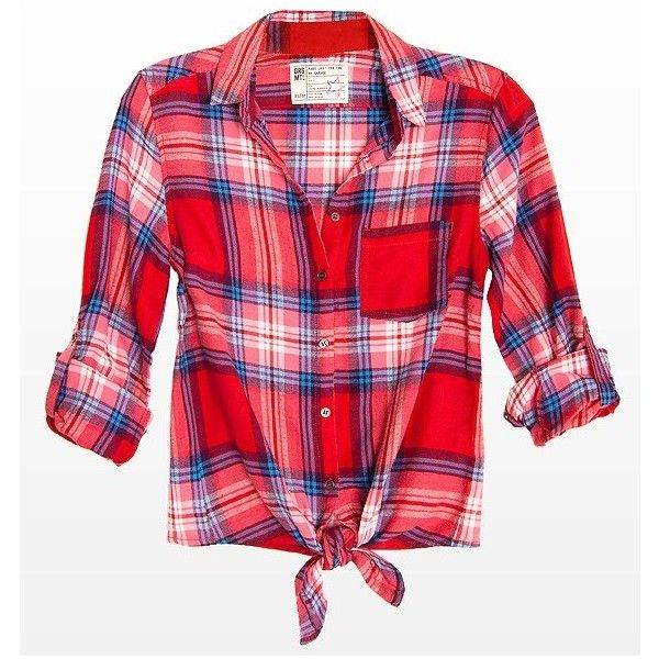 Flannel Plaid Shirt ($30) ❤ liked on Polyvore featuring tops, shirts, blusas, t-shirts, haut, red flannel shirt, flannel top, long sleeve flannel shirts, roll top and flannel shirts
