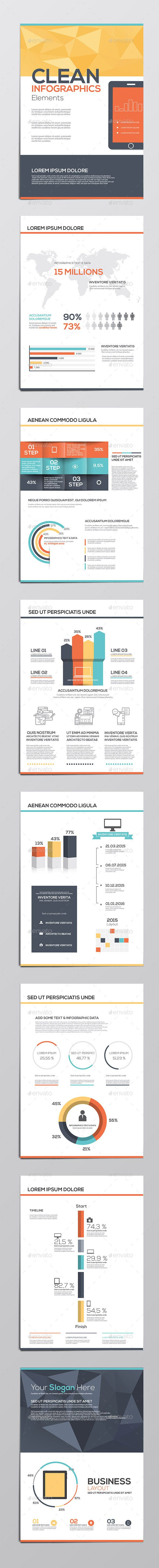 Business Infographics Elements Template #design #vector Download: http://graphicriver.net/item/business-infographics-elements/10314982?ref=ksioks