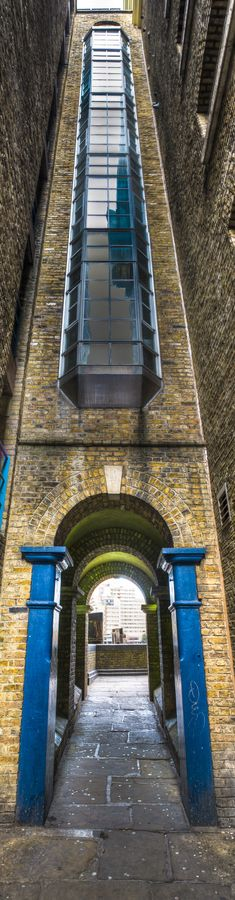 Butlers Wharf Alley, River Thames, London, England