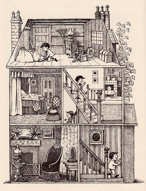 El Libro verde grande por mi colección de libro de la vendimia Ilustrated by Mauice Sendak