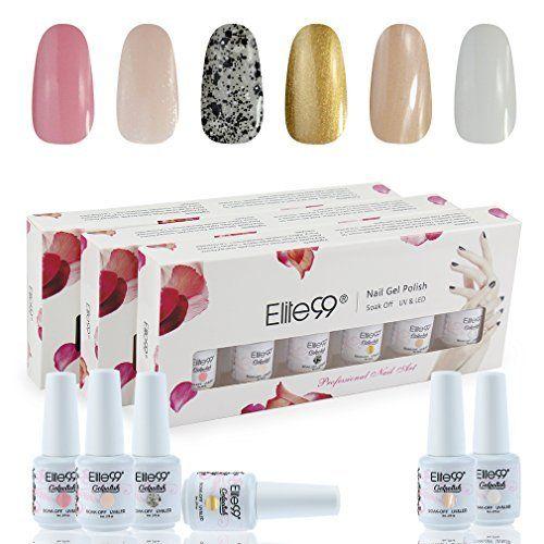 Elite99 6Pz Gift Set - UV LED Soak Off Gel Polish, Smalto Semipermanente Set Kit da 6 Pz con Gift Box(6 Colori Gel), Colori Fissi, Multicolori da Scegliere, VU/LED Ricostruzione Unghie Arte - 8ML C003, http://www.amazon.it/dp/B06XX7HPQ7/ref=cm_sw_r_pi_awdl_xs_y3AfzbAJQENTW