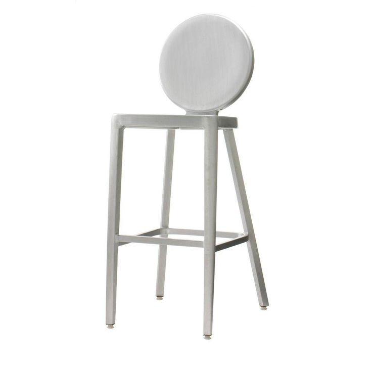 h brush aluminum bar stool