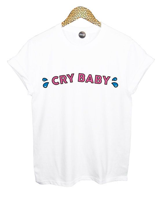 cry baby T SHIRT womens mens ladies boys girl tee top by MLSHOPSS