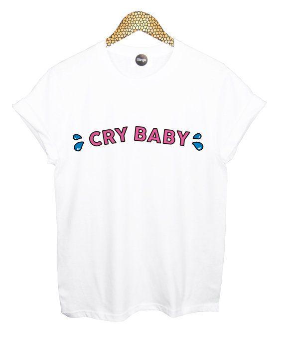 cry baby T SHIRT womens mens ladies boys girl tee top by MLSHOPSS