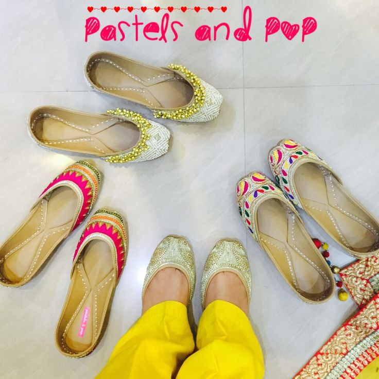 Handcrafted Punjabi Jutti's by Pastels and Pop.