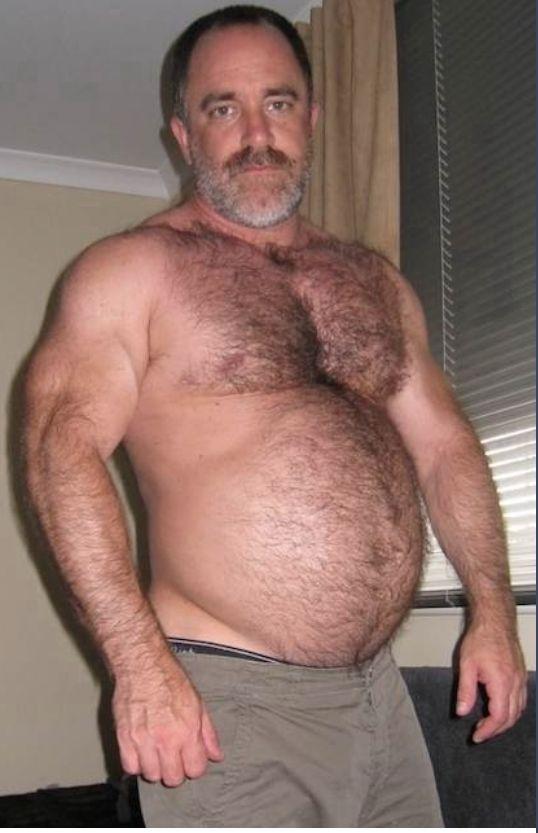 Fat guy belly rub