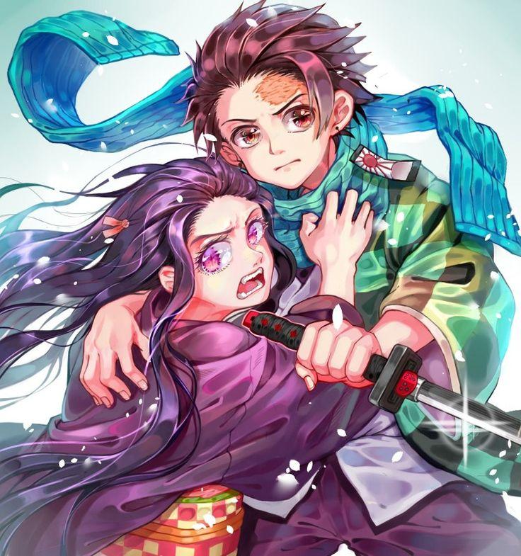 Nezuko and tanjirou . . . . Demon Slayer Kimetsu No