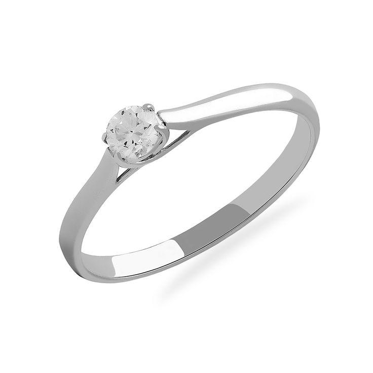 Купить золотое кольцо для помолвки с бриллиантом (1100889202) в ювелирном интернет-магазине Kazka Jewelry