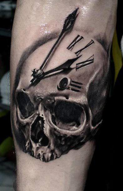 tattoo artist proki tattoo www worldtattoogallery com tattoo artist    Memento Mori Skull Tattoo