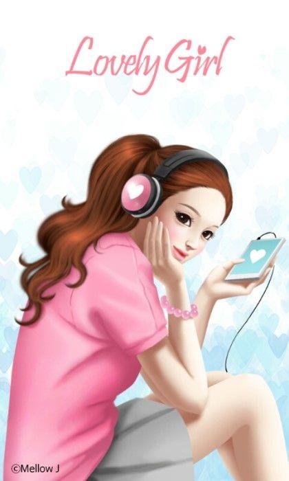 러블리걸(sweet music) 카카오톡 테마-멜로우J/Mellow J : 네이버 블로그