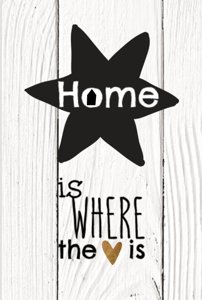 zwart wit met hout print verhuiskaart