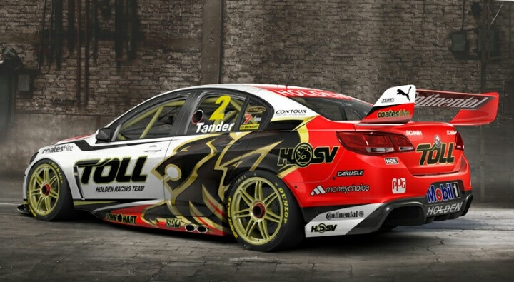 The VF Holden Commodore V8 Supercar