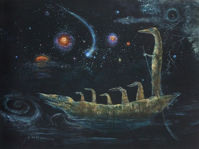 Leonora Carrington, How Doth the Little Crocodile, Mexico City has a sculpture of this!