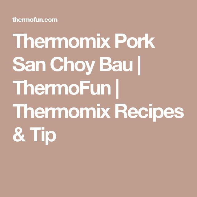 Thermomix Pork San Choy Bau | ThermoFun | Thermomix Recipes & Tip