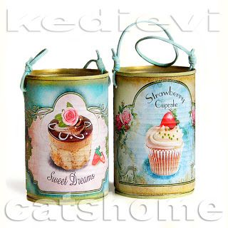 vintage decoupage tins