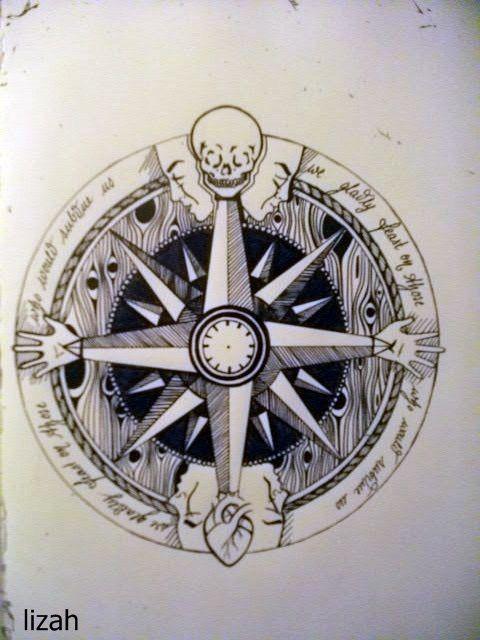 tumblr compass tattoo drawing y as vivir la valent a de sentir pinterest sal de mar viva. Black Bedroom Furniture Sets. Home Design Ideas