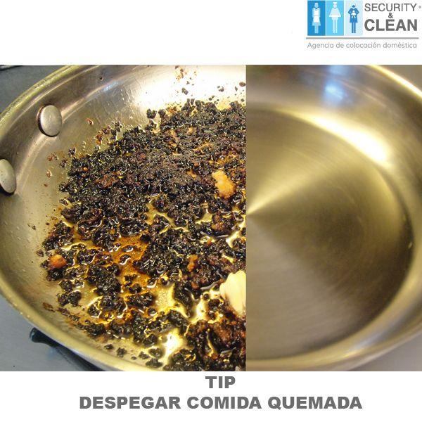 #Tip Agrega vinagre blanco  en la olla y déjalo actuar de 30 minutos a una hora. El vinagre suavizará la comida quemada y será mucho más fácil despegarla