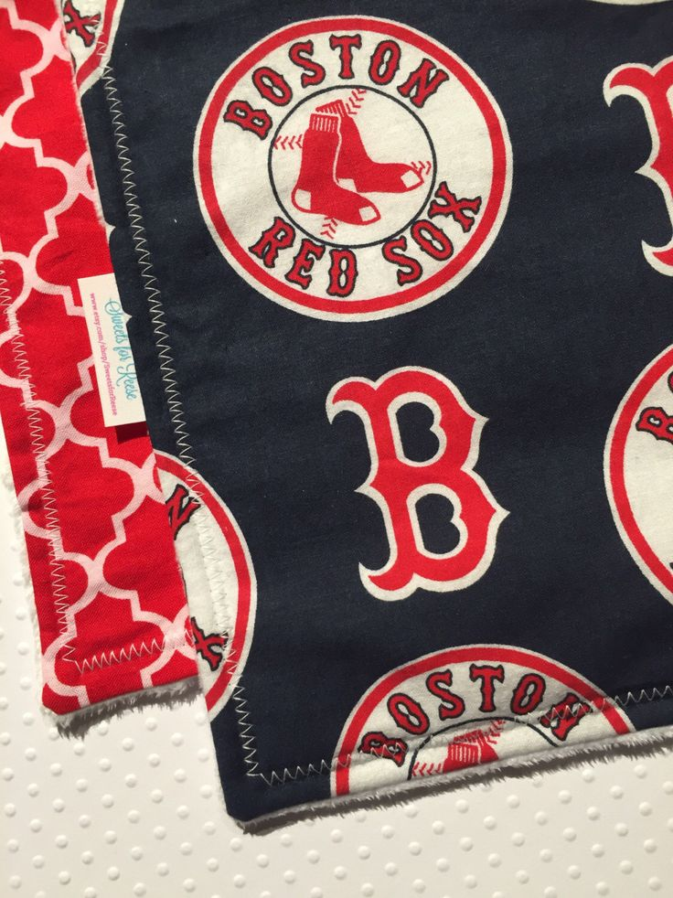A personal favorite from my Etsy shop https://www.etsy.com/listing/461846118/boston-red-sox-burp-cloth-set-set-of-2