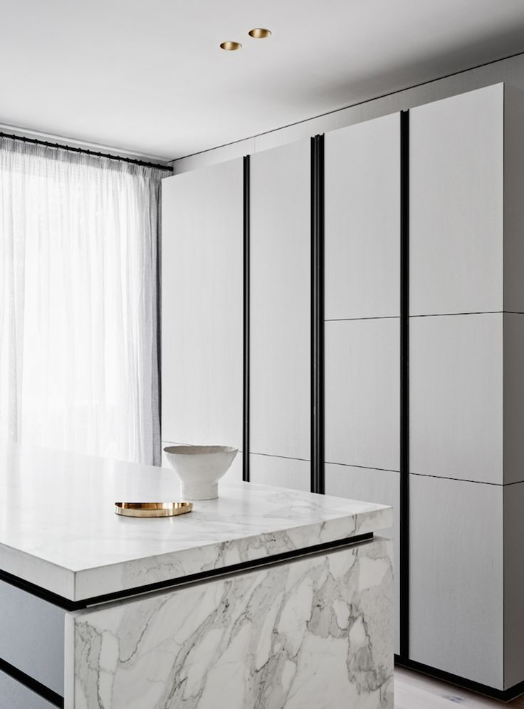 grey - white modern kitchen | flack studio