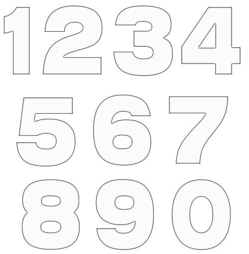 Comprehensive image inside printable number stencils