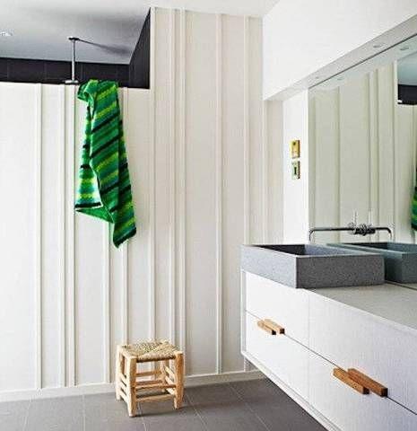 modern wood paneling white wood paneled bathroom