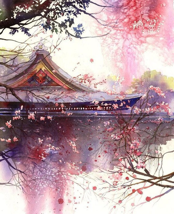 Amazing artwork by Kanta Harusaki #kantaharusaki. Kanta is a famous Japanese watercolorist who was born in Kumamoto. His watercolor work began at the age of 32 years. So it's never too late to find the artist in you   Удивительная работа Канты Харусаки. Канта известный японский акварелист из Кумамото. Его творческая деятельность началась в возрасте 32 лет. Так что никогда не поздно найти в себе художника :) #иллюстрация #живопись #искусство #графика #акварель #арт #выставки #art…