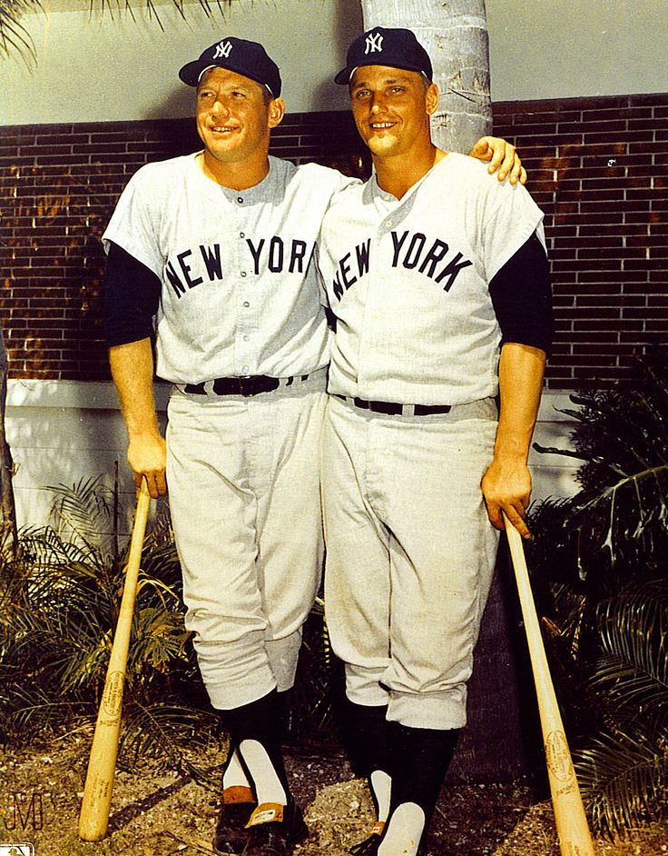 Mickey Mantle and Roger Maris - New York Yankees 1961