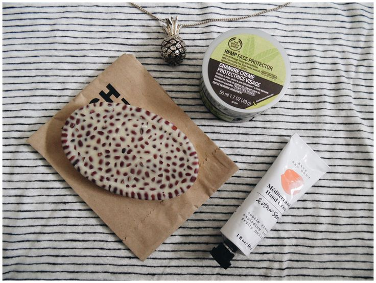FAVORITE THREE: beauty | favorite three beauty products | may 2016 | the body shop hemp face protector, lush wiccy magic muscles, & other stories méditerranéen hand cream | more details on my blog http://junegold.blogspot.de | life & style diary from hamburg | #beauty #bodyshop  #lush #andotherstories #otherstories  #facecream #massagebar  #handcream