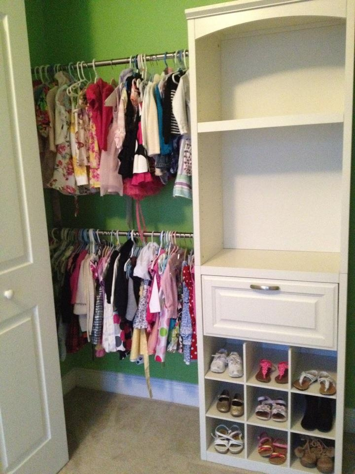Allen & Roth closet organization system I just installed in my daughter's closet. Looks great, and very functional!