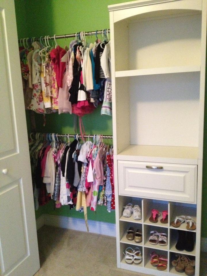 Allen u0026 Roth closet organization system I just installed in my daughteru0027s  closet. Looks great