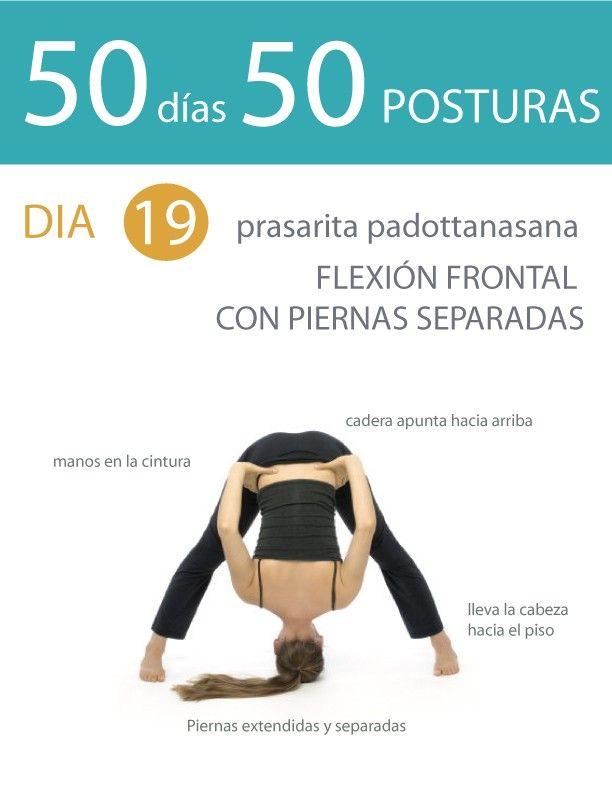 50 días 50 posturas. Día 19. Flexión frontal con piernas separadas