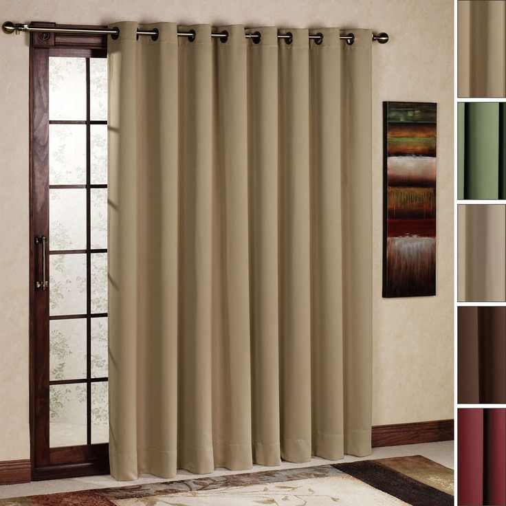 sliding glass door blinds | ... Treatments for Sliding Glass Doors: Grommet Curtains Window Treatments