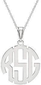 """QVC Sterling Circle Monogram Pendant w/18"""" Chain http://shopstyle.it/l/mA6K"""