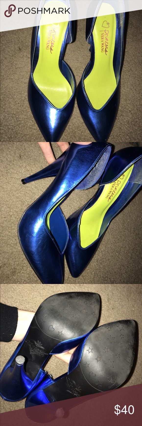 Princess Vera Wang Electric Blue Heels Worn once basically new Princess Vera Wang Electric Blue heels Vera Wang Shoes Heels